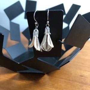 Beautiful Sterling Silver Flower Earrings